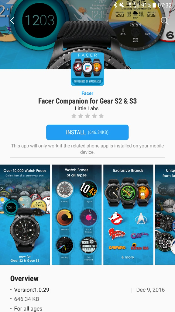Facer Watch Faces app now supports Gear S2 and Gear S3 ...
