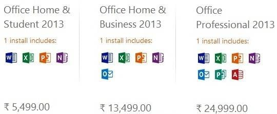 microsoft office 2013 price in india - mobilescout