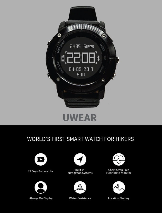 UWear is the answer to perfect outdoor smartwatch for ...
