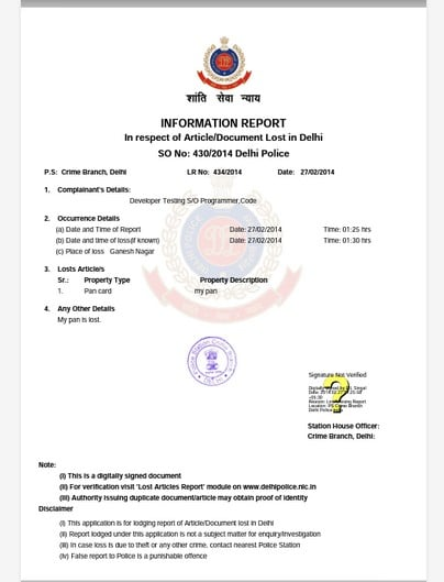 Delhi Police Quot Lost Report Quot Android App File Lost Article