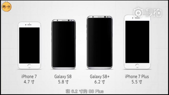 galaxy s8 s8 plus get an early size comparison with